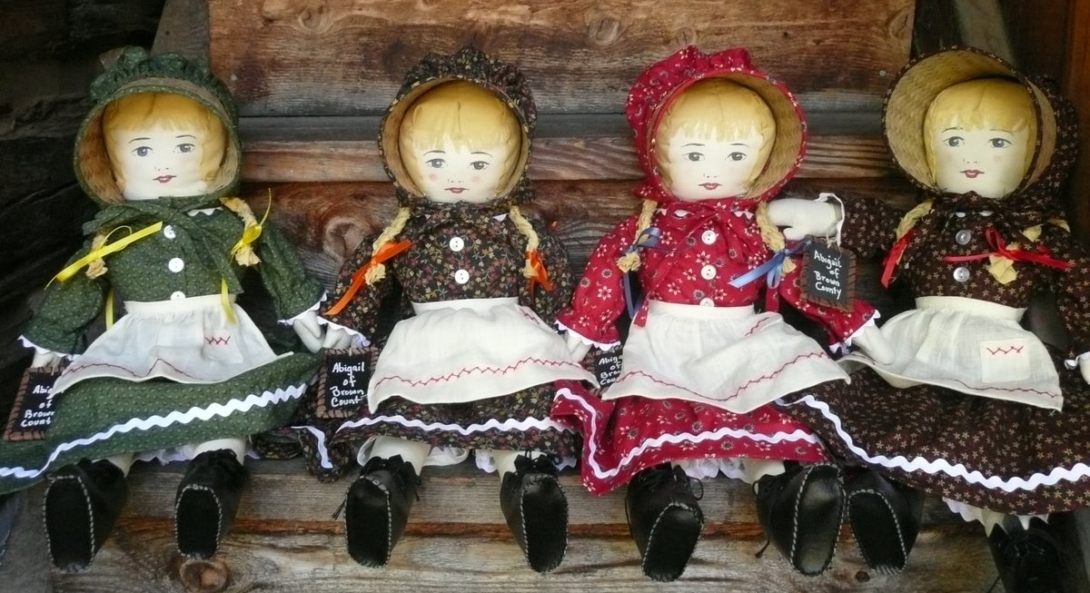 Dolls on Stairs